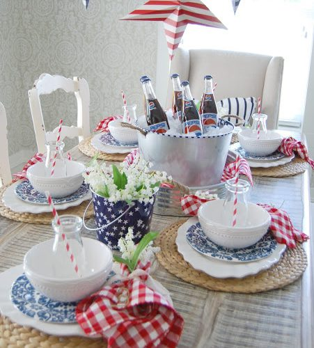 4th of July…Red, White, and Blue Table
