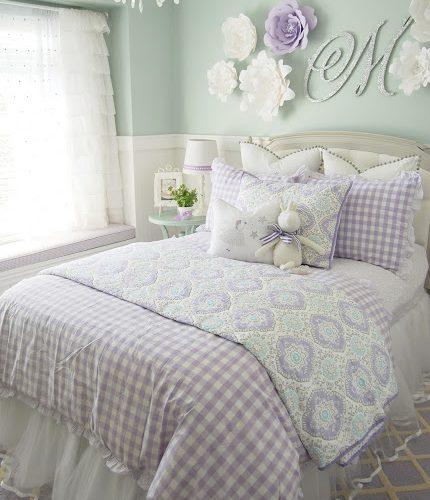 Purple & Turquoise Little Girls Room