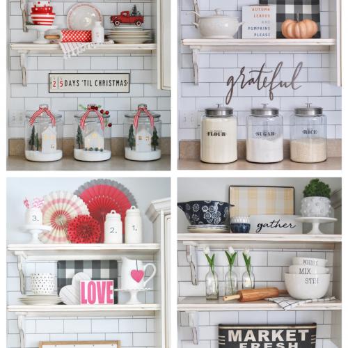 Kitchen Shelves- Throughout the Seasons